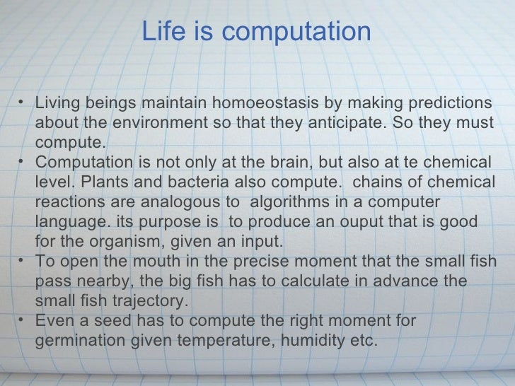 Arrow of time determined by lthe easier direction of computation for life Slide 2