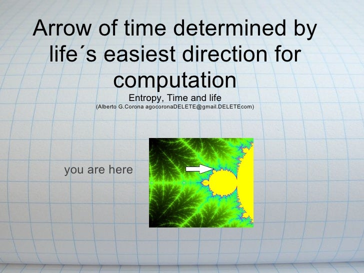 Arrow of time determined by life´s easiest direction for         computation                  Entropy, Time and life      ...