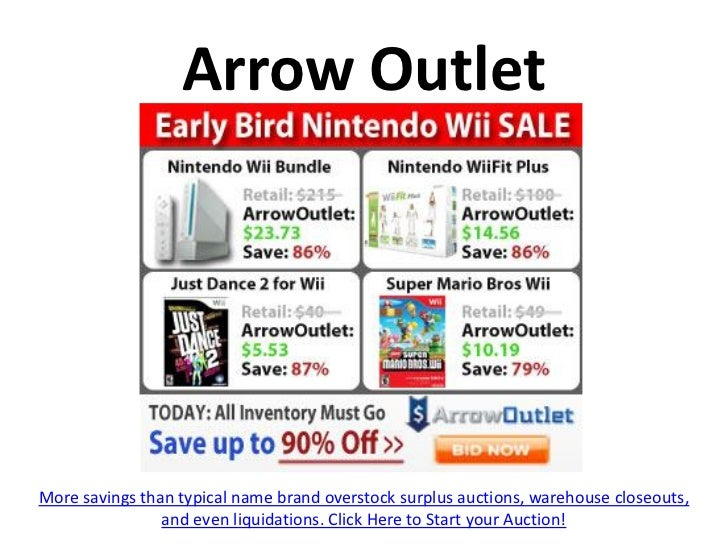 Arrow OutletMore savings than typical name brand overstock surplus auctions, warehouse closeouts,                and even ...
