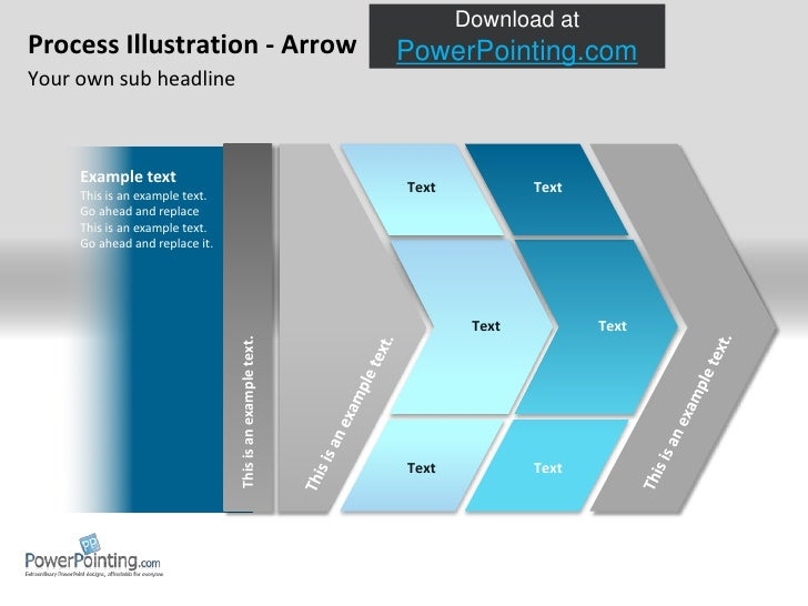Process Illustration - Arrow<br />Your own sub headline<br />Example text<br />This is an example text.<br />Go ahead and ...