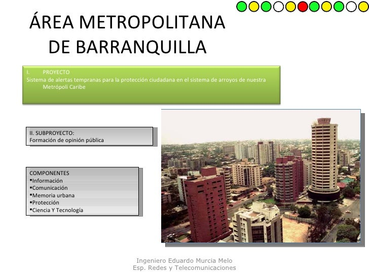 ÁREA METROPOLITANA DE BARRANQUILLA II. SUBPROYECTO: Formación de opinión pública  <ul><li>COMPONENTES </li></ul><ul><li>In...