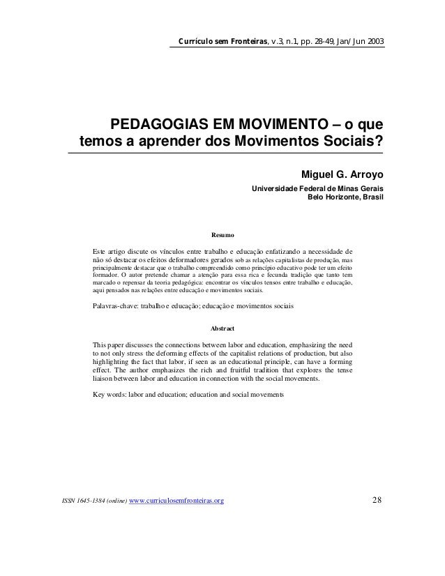 Currículo sem Fronteiras, v.3, n.1, pp. 28-49, Jan/Jun 2003 ISSN 1645-1384 (online) www.curriculosemfronteiras.org 28 PEDA...