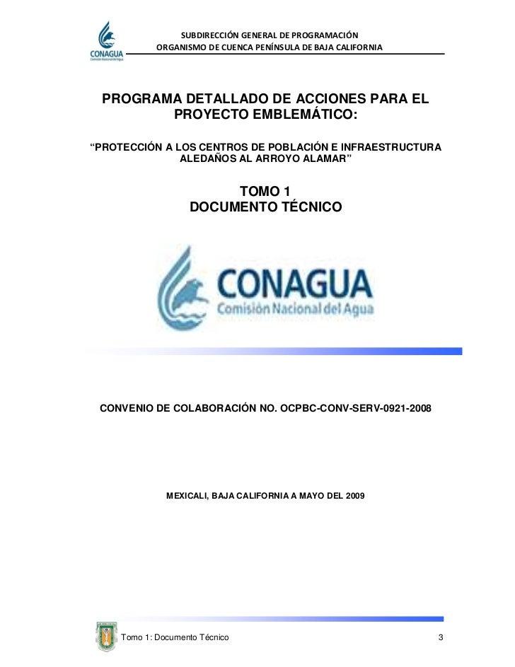 Arroyo alamar 01 documento tecnico for Proyecto tecnico ejemplos