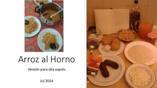 Arroz al Horno Versión para olla exprés Jul 2014