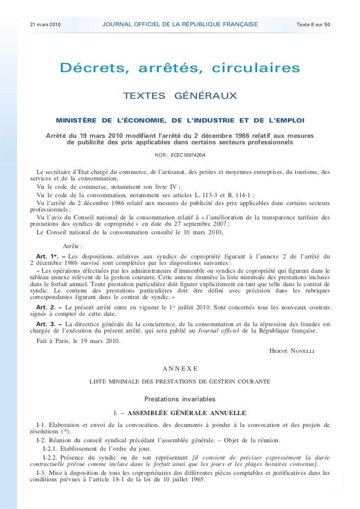 21 mars 2010                 JOURNAL OFFICIEL DE LA RÉPUBLIQUE FRANÇAISE                                Texte 8 sur 50    ...