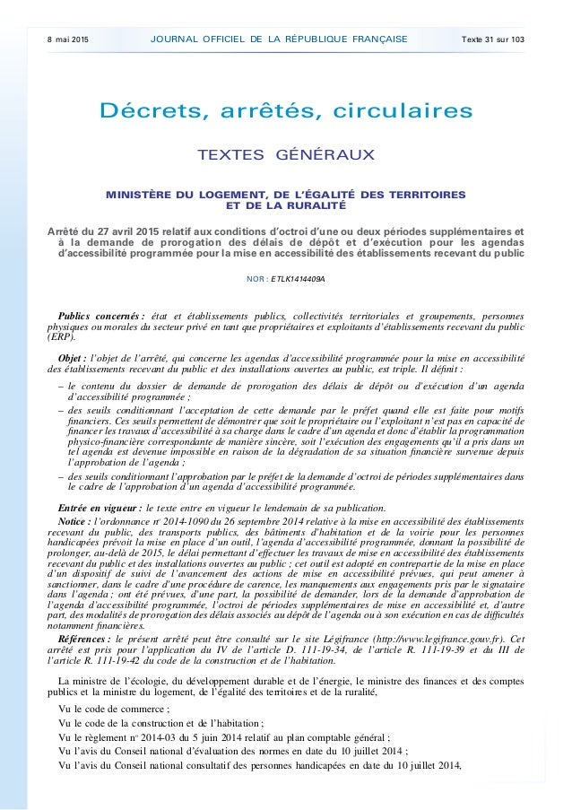 Décrets, arrêtés, circulaires TEXTES GÉNÉRAUX MINISTÈRE DU LOGEMENT, DE L'ÉGALITÉ DES TERRITOIRES ET DE LA RURALITÉ Arrêté...