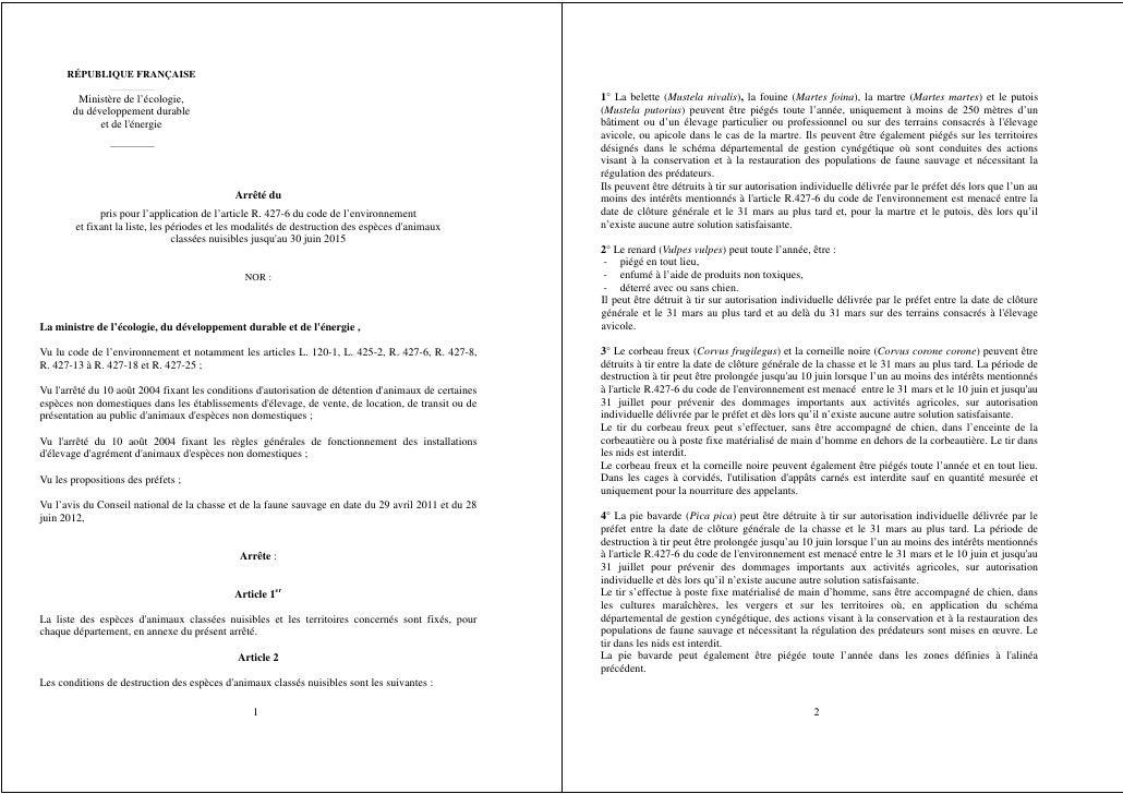 RÉPUBLIQUE FRANÇAISE        Ministère de l'écologie,                                                                      ...