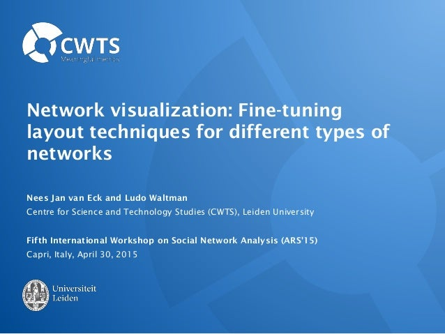Network visualization: Fine-tuning layout techniques for different types of networks Nees Jan van Eck and Ludo Waltman Cen...