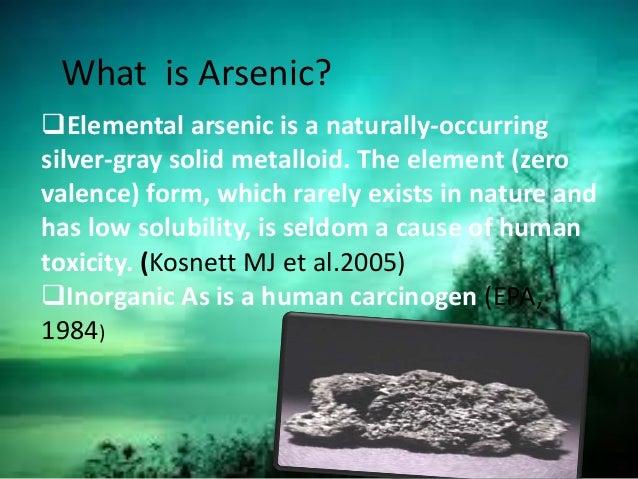 Natural Treatment For Arsenic Poisoning