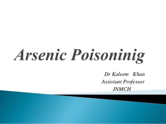 Dr Kaleem Khan Assistant Professor JNMCH