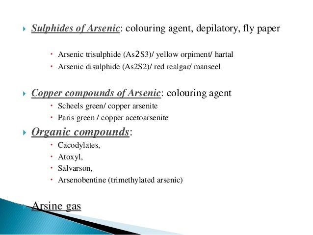 arsenic toxicology essay Arsenic bearing copper-gold deposit located in northern peru  table 5-2:  project cu-as financial performance summary   toxicological properties.