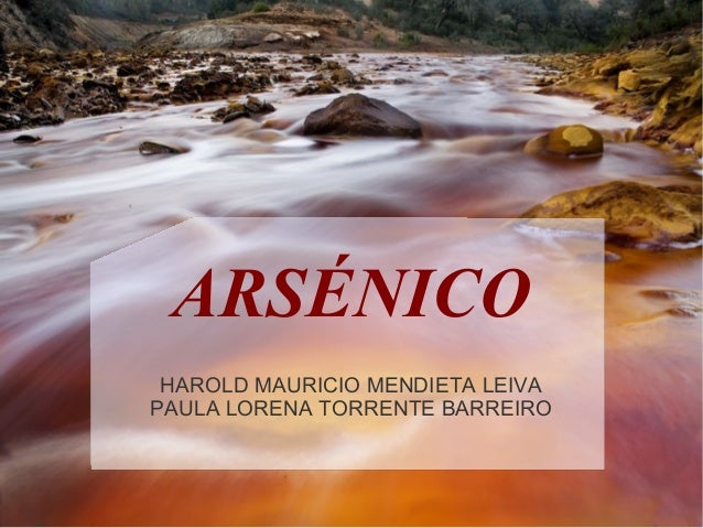 ARSÉNICO HAROLD MAURICIO MENDIETA LEIVAPAULA LORENA TORRENTE BARREIRO