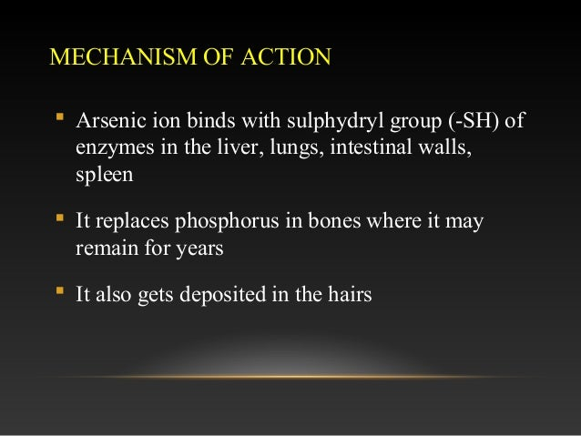 arsenic poisoning Arsenic poisoning definition the condition is marked by increase in the levels of an element in the body called arsenic prolonged exposure to the poisonous chemical is highly detrimental to health and may produce serious repercussions.