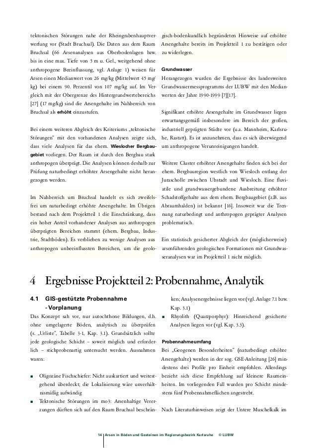 Tab. 4-1: Flächenauswahl zur Begehung  Geologische Karte 1: 25 000 Schichten  6717 Waghäusel, Brauner Jura und Mittlerer K...