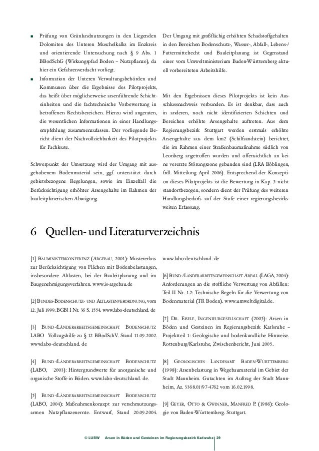 –bindungsformen in Gesteinen und Böden aus südwest-deutschem  Jura und Keuper. Hohenheimer Bodenkund-liche  © LUBW Arsen i...