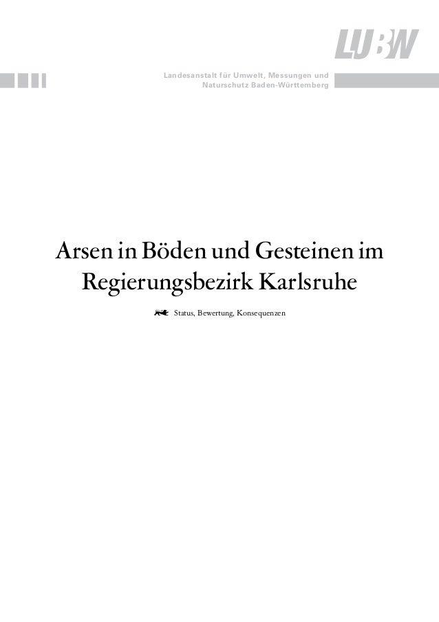 IMPRESUM  Herausgeber  Gefördert Durch  Bearbeitung  Redaktion  Bezug  ISBN  StanD  BildNachweis  LUBW Landesanstalt für U...