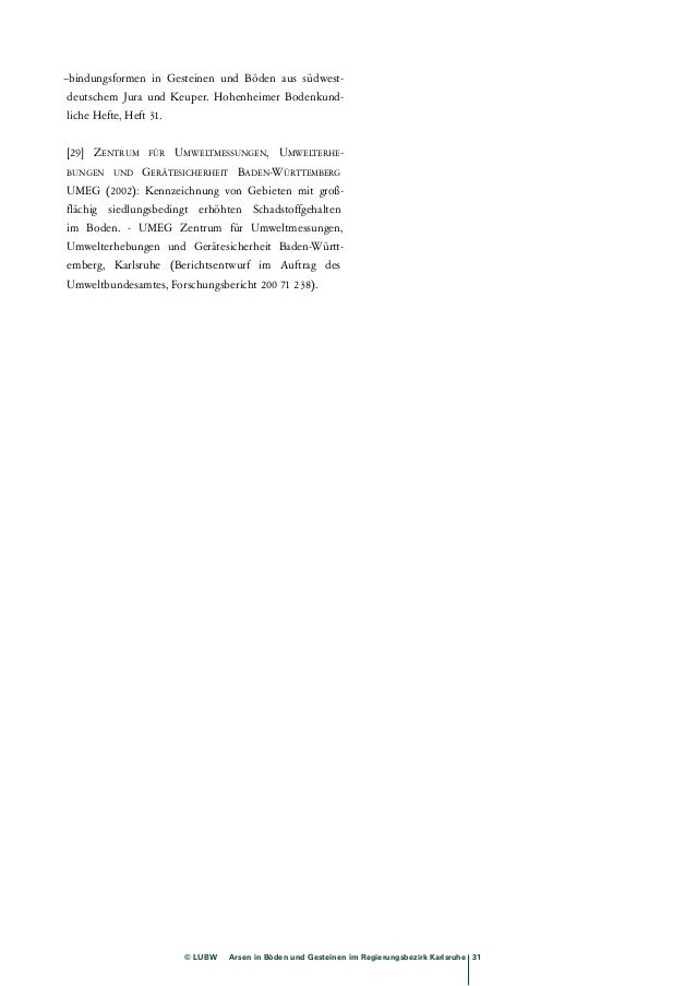 Anl. 7-1B: Analysen Bruchsal, Bereich tek. Störung, Gesamtgehalte Arsen  Standort Datum Rechts Hoch Nutzung von (cm) bis (...
