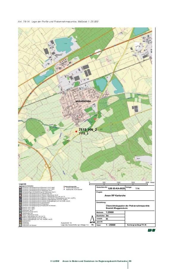 Arsen in Böden und Gesteinen im Regierungspräsidium Karlsruhe