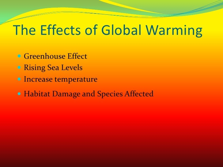 Arshed Global Warming Power Point Project