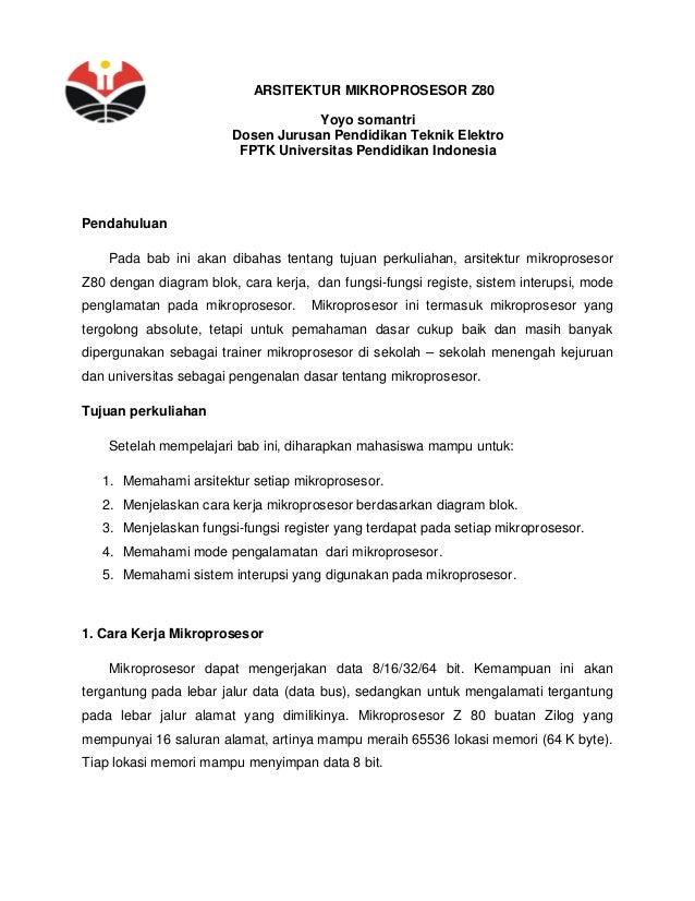 Arsitektur mikro z80 arsitektur mikroprosesor z80 yoyo somantri dosen jurusan pendidikan teknik elektro fptk universitas pendidikan indonesia p ccuart Choice Image