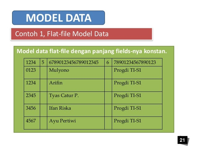 Image result for Basis data flat-file