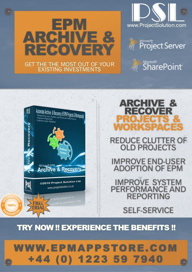 www.ProjectSolution.com  GET THE THE MOST OUT OF YOUR      EXISTING INVESTMENTS                             PROJECTS &    ...