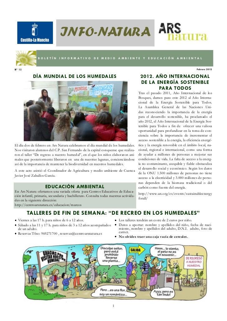 INFO-NATURA                BOLETÍN        INFORMATIVO              DE   MEDIO       AMBIENTE          Y   EDUCACIÓN       ...