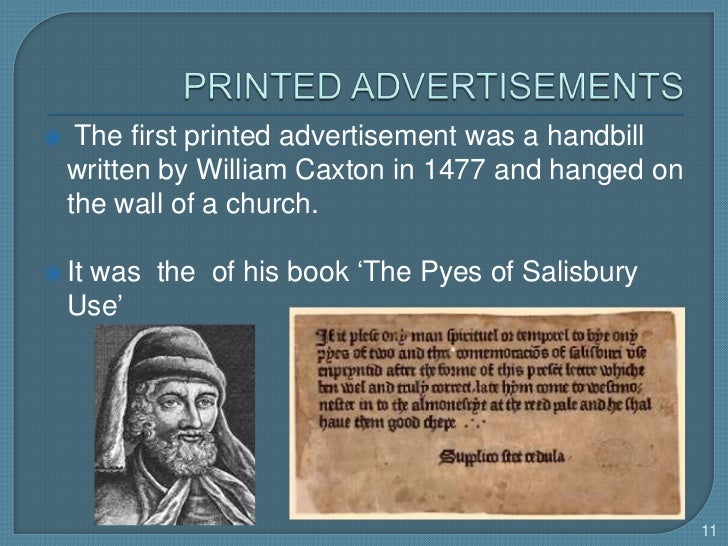 the history of advertisement