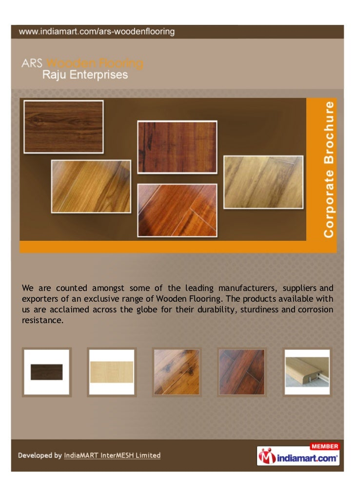 We are counted amongst some of the leading manufacturers, suppliers andexporters of an exclusive range of Wooden Flooring....