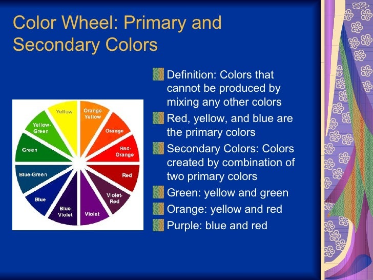 38 Color Wheel Primary And Secondary Colors
