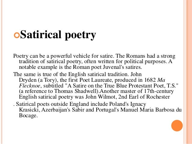 example of satire poetry Understanding parody and satire is important for reading comprehension storyboards include examples of parody, examples of satire, & modern adaptation.