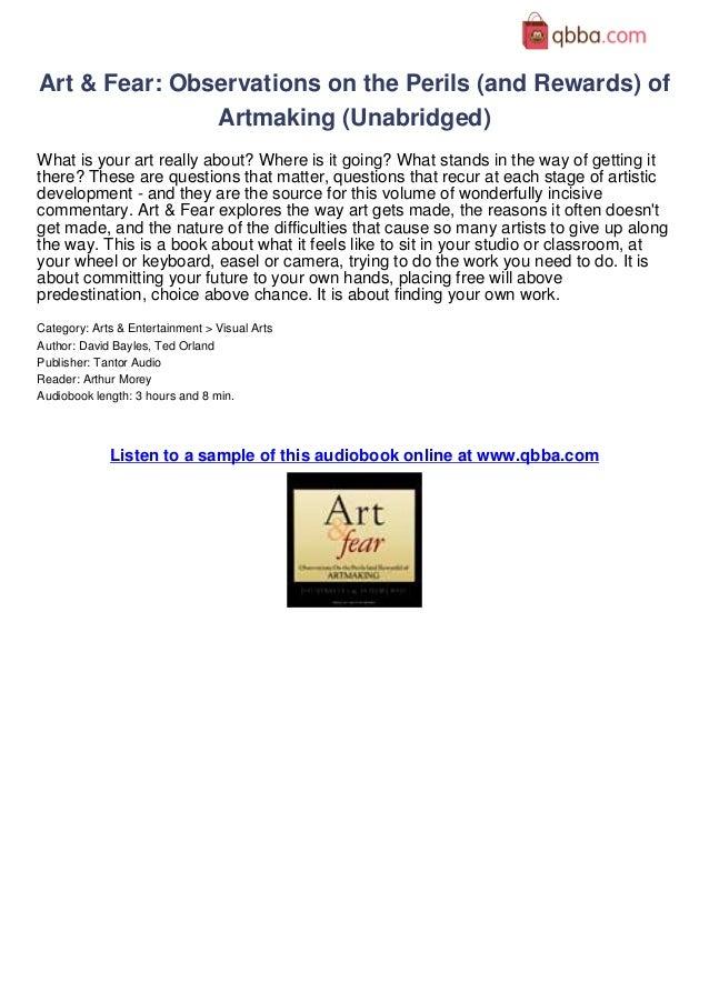 Art And Fear David Bayles Pdf