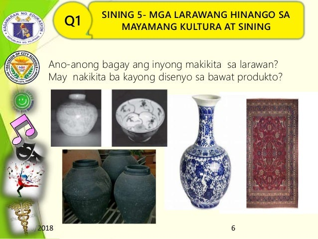 8/16/2018 6 SINING 5- MGA LARAWANG HINANGO SA MAYAMANG KULTURA AT SININGQ1 Ano-anong bagay ang inyong makikita sa larawan?...
