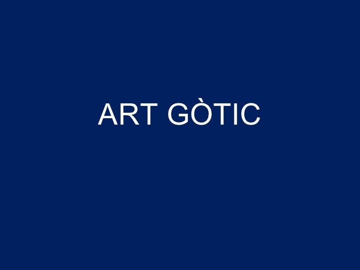ART GÒTIC