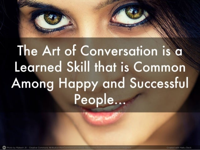 How to Master the Art of Conversation