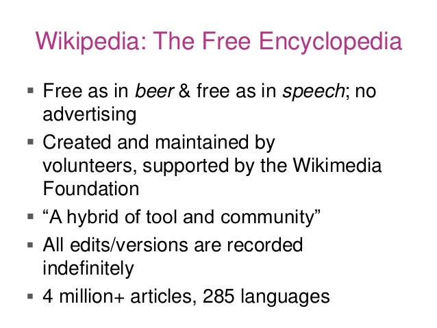 Art of GLAM-wiki:The Basics of Sharing Cultural Knowledge on Wikipedia Slide 3