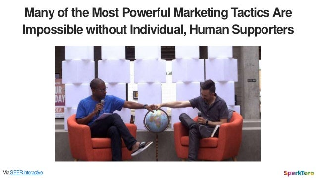 Many of the Most Powerful Marketing Tactics Are Impossible without Individual, Human Supporters ViaSEERInteractive
