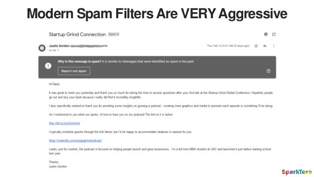 Modern Spam Filters Are VERY Aggressive