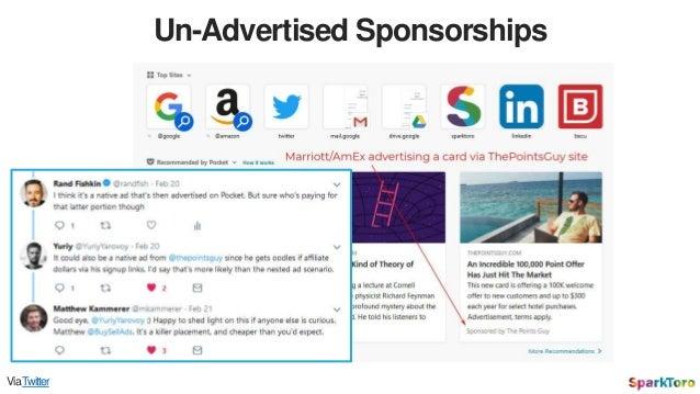 Un-Advertised Sponsorships ViaTwitter