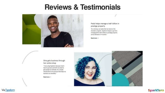 Reviews & Testimonials ViaTypeform