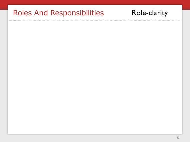 Roles And Responsibilities   Role-clarity                                                 6