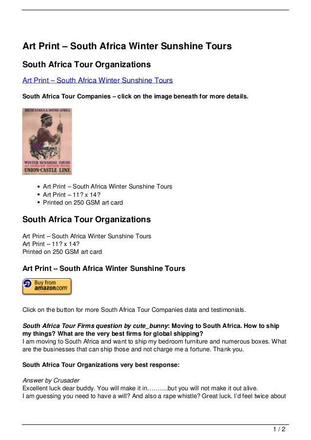 Art Print – South Africa Winter Sunshine ToursSouth Africa Tour OrganizationsArt Print – South Africa Winter Sunshine Tour...