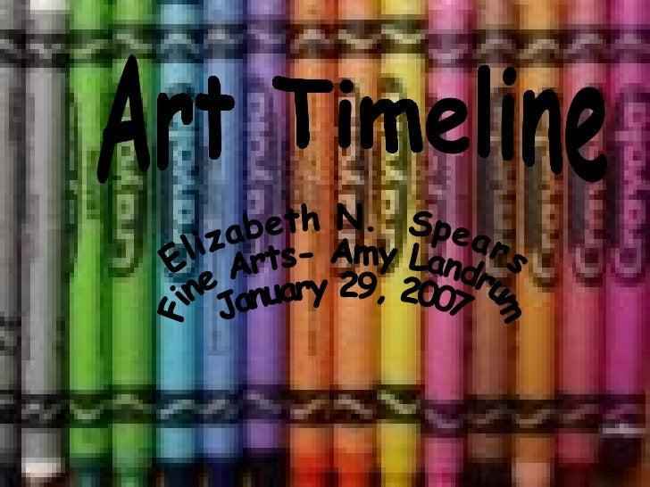 Art Timeline Elizabeth N.  Spears  Fine Arts- Amy Landrum January 29, 2007