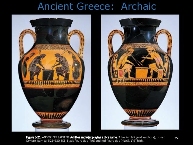 Achilles And Ajax Playing A Dice Game