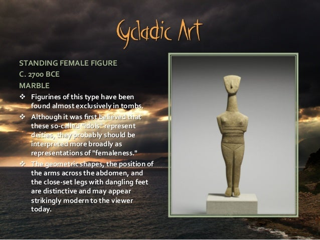 Early Cycladic female sculptures - Essay Example