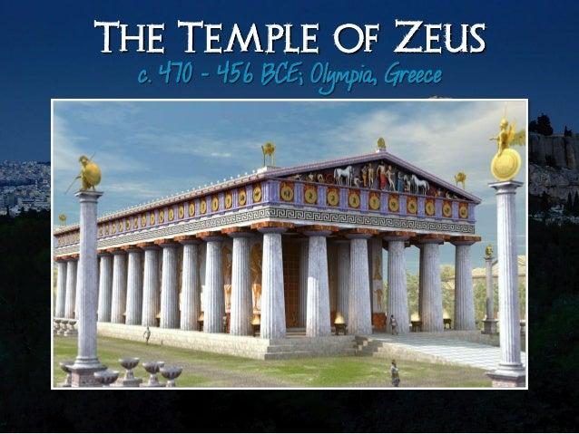 The Temple Of Zeus C 470 456 BCE Olympia Greecei