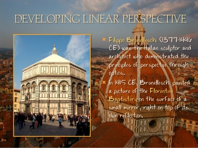 Brunelleschi Painting Perspective