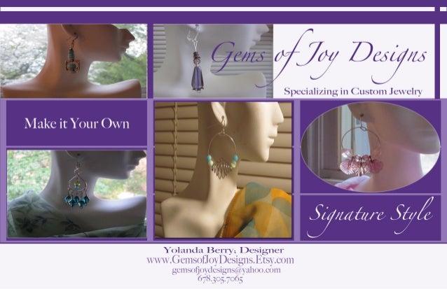 Gems of Joy Designs Promotional Card