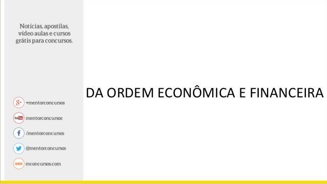 Ordem economica e financeira direito constitucional pdf