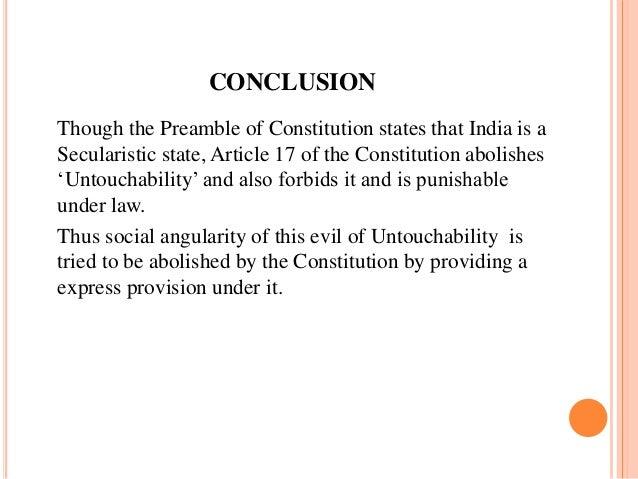 Conclusion on social evil